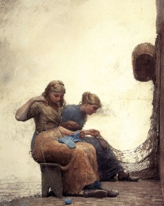 Mending_the_nets_BY_Winslow_Homer