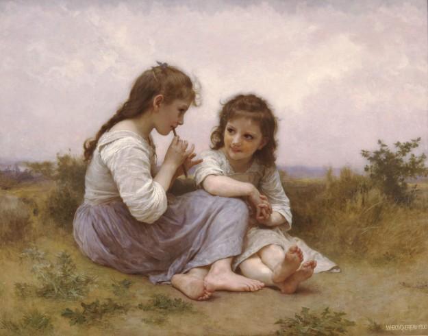 William-Adolphe Bouguereau - Idylle Enfantine (1900)