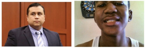 A gauche, George Zimmerman, à droite, Trayvon Martin