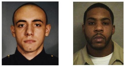 A gauche, Melvin Santiago. A droite, son meurtrier.